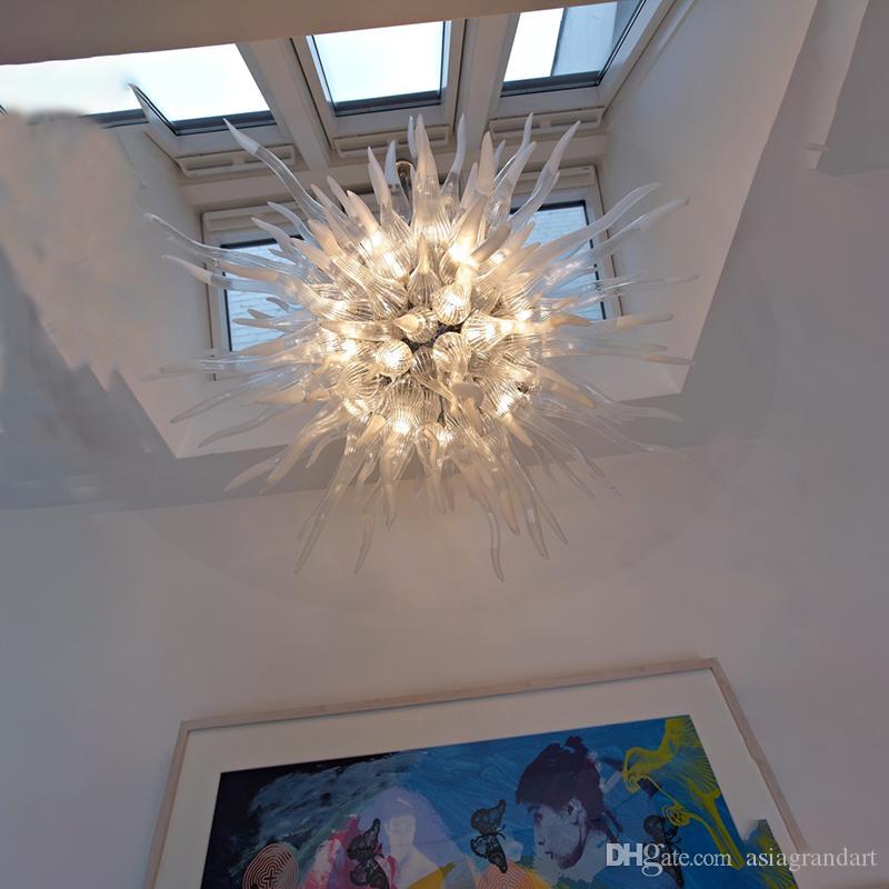 CE UL 붕규산 무라노 유리 데일 치 훌리 (Dale Chihuly) 예술 투명 투명 유리 산업 펜던트 램프 풍선 100 % 입