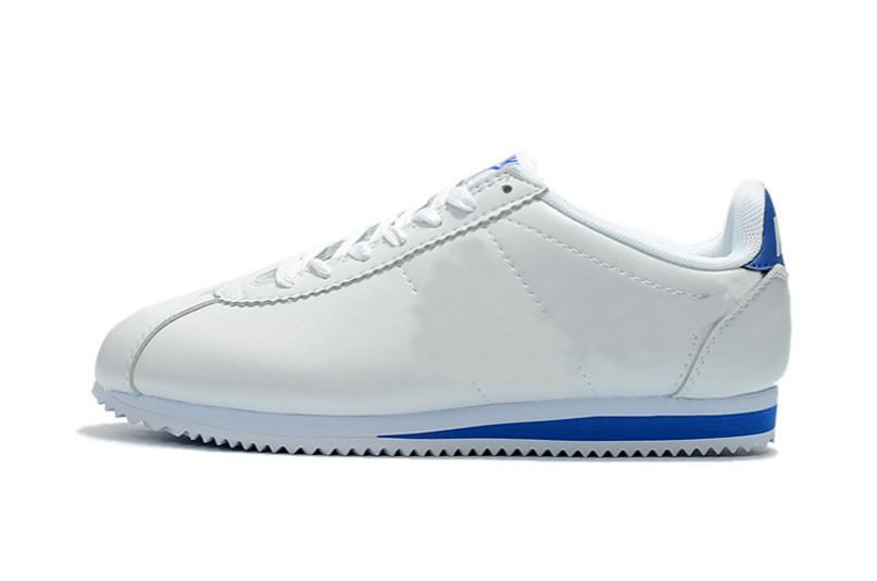 Мужская весна / осень Классического Кортез Кожи повседневная обувь для мужчин тапки модной удобных мод шнуровки для взрослой пробег обуви Zapatos