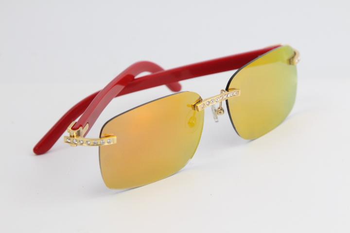 rimless 안경 큰 돌 혼합 판자 8200759 태양 안경 패션 고품질 인기 렌즈 멀티 안경 남성과 여성 뜨거운 멀티 안경