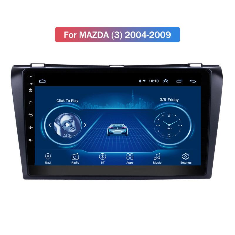 Android 10 Car Radio DVD Player for MAZDA (3) 2004-2009 GPS Navigation Audio Video SWC