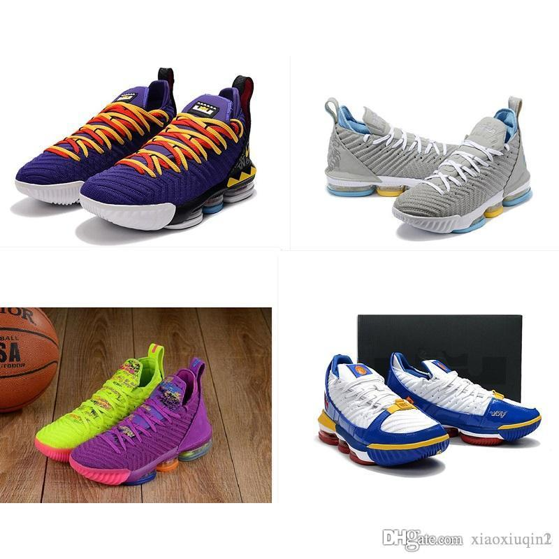 New what the lebrons 16 XVI basketball shoes mens for sale lebron 16s 1 Thru 5 Martin boys sneakers boots original box size 7-12