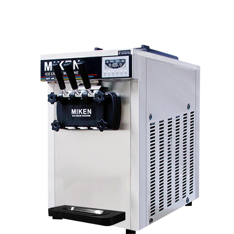 Commercial ice cream machine stainless steel soft ice cream machine 110V/220V ice cream making machine desktop for sale