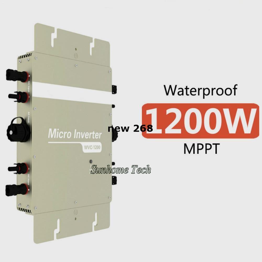Freeshipping 1200W Grid Tie Inverter 1200W On Grid Inverter,Input DC22-50V Output AC120V or 230V with Power line communication