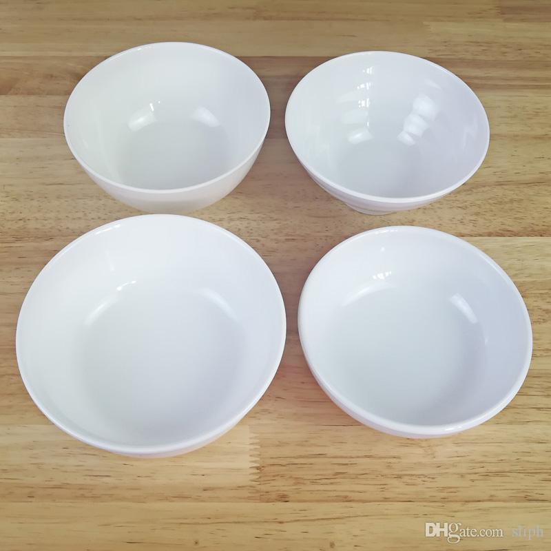 Mélange de porcelaine blanche 5 cm imitation porcelaine petit bol Restaurant Hôtel Vaisselle Bol à soupe bol A5 Vaisselle Mélamine Bol de riz