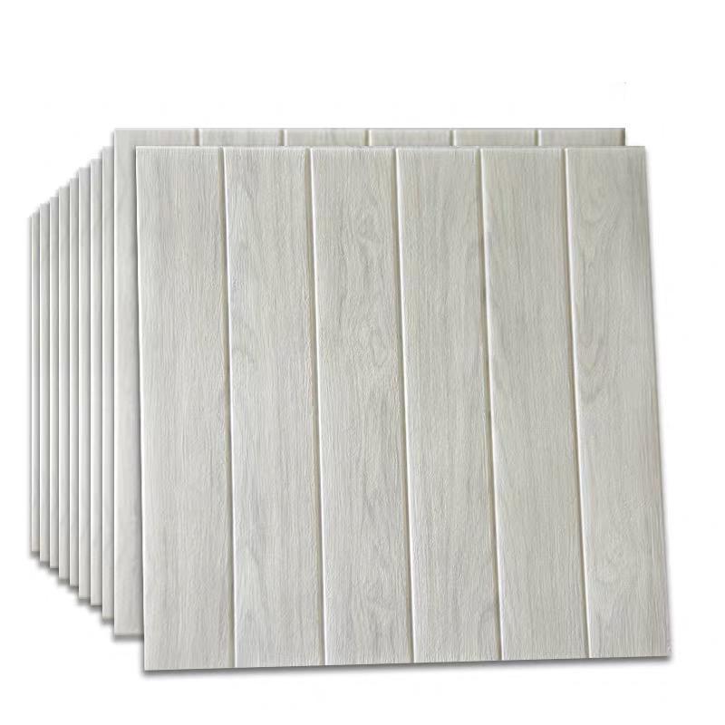 25Pcs Self Adhesive Waterproof 3D Wood Grain Wallpaper Tv Background Wall Skirt Sticker For Living Room Mural Bedroom Decorative