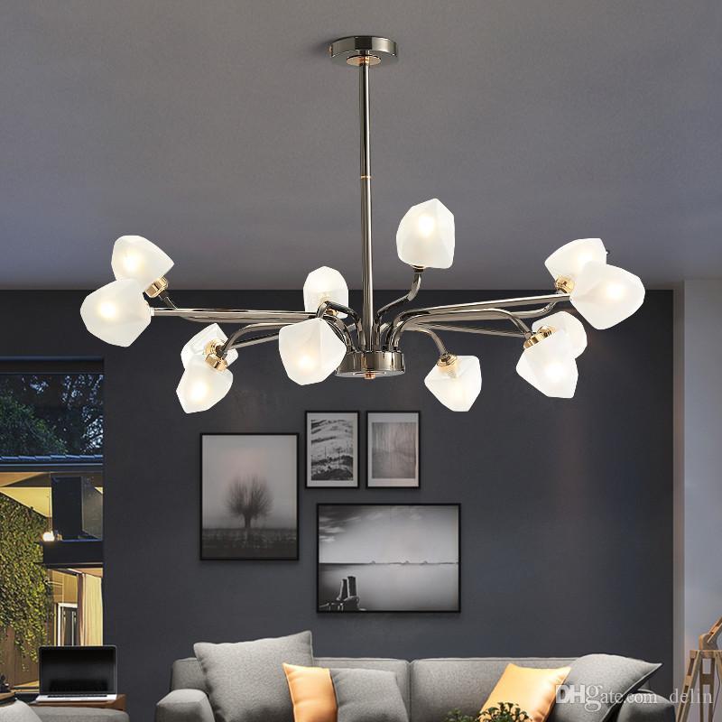 luce lampadario LED elegante ramo albero lampada lampadario chandelies soffitto decorativi vetro moderna appesi Led Lighting