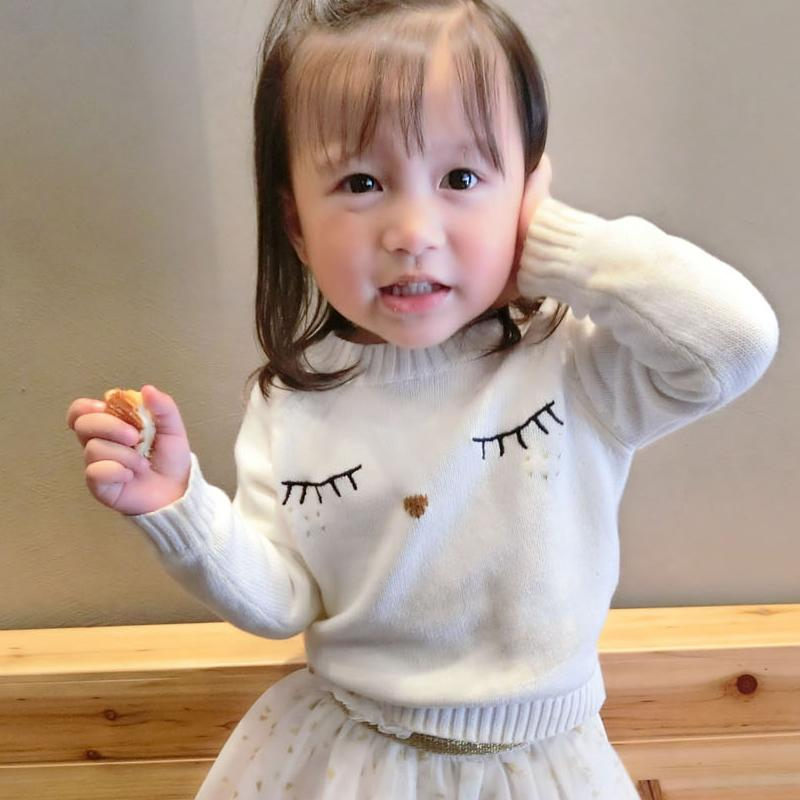 Mother And Daughter Clothes White Eyelash Sweaters Family Matching Outfits Sweaters For Mom And Kids Fashion Cardigan Sweaters J190514