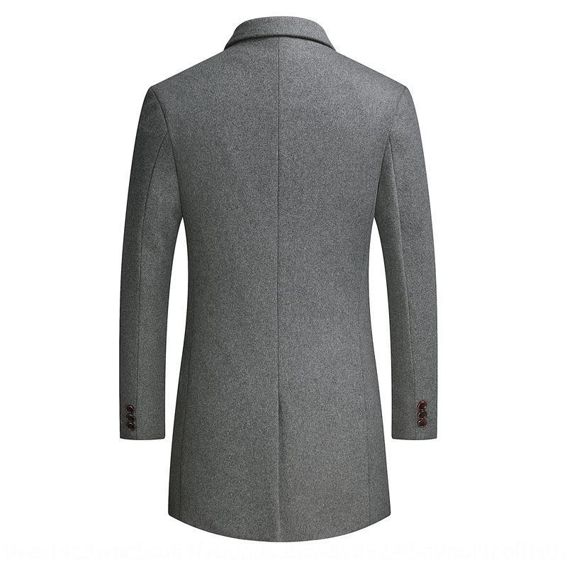 Jeune mince mi-longue vêtements pour jeunes hommes mince mi-longue vêtements pour hommes de manteau de laine manteau de laine