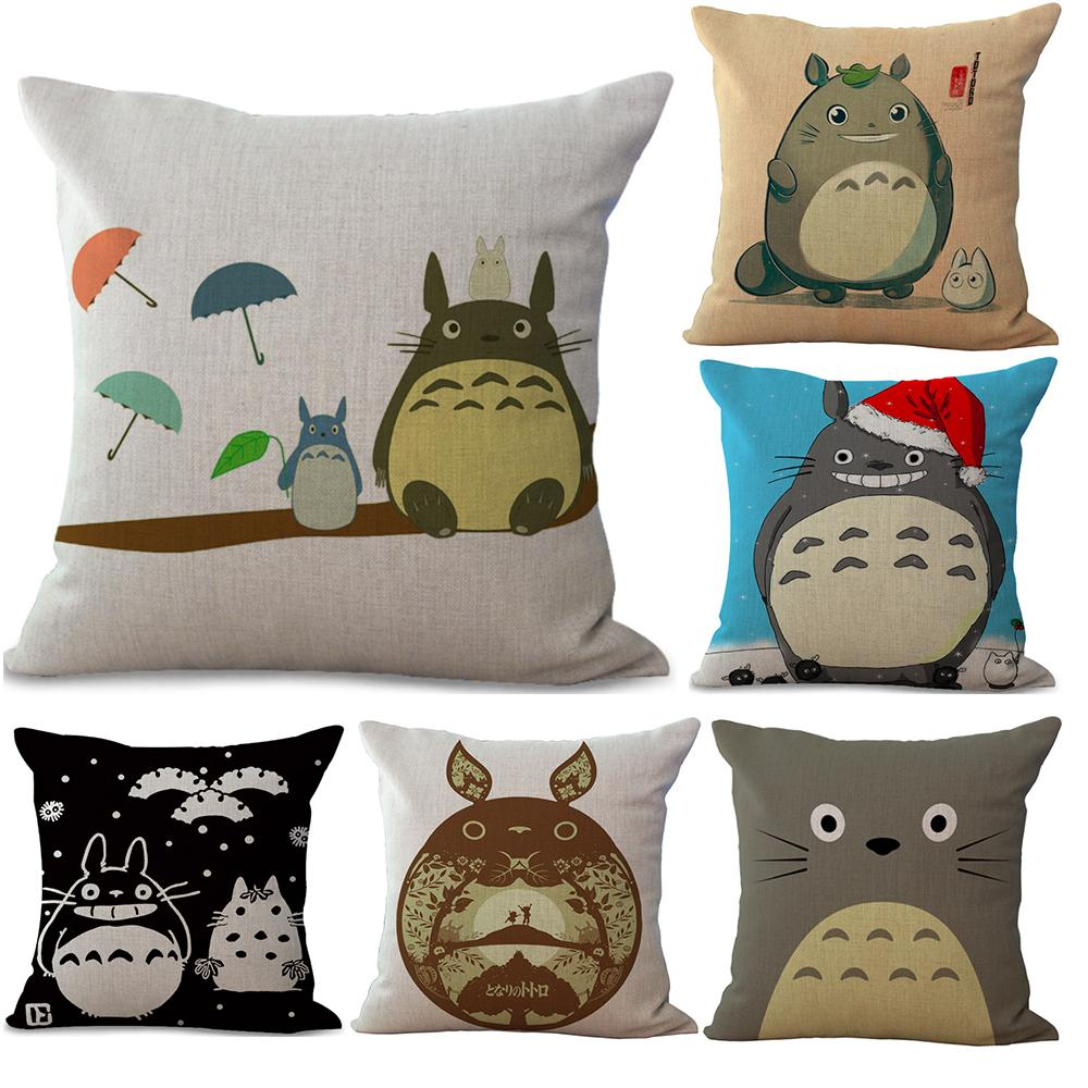 Cartoon My Neighbour Totoro Neck Body Pillowcase Linen Bed Pillows Cover Couch Seat Cushion Throw Pillow Home Decoration Gift