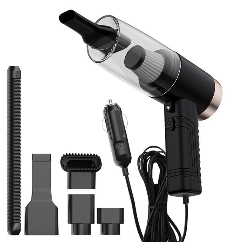 Araç 3-in-1 büyük elektrikli süpürge ıslak ve çift kullanımlı lamba ile güçlü emiş araba elektrik süpürgesi kuru