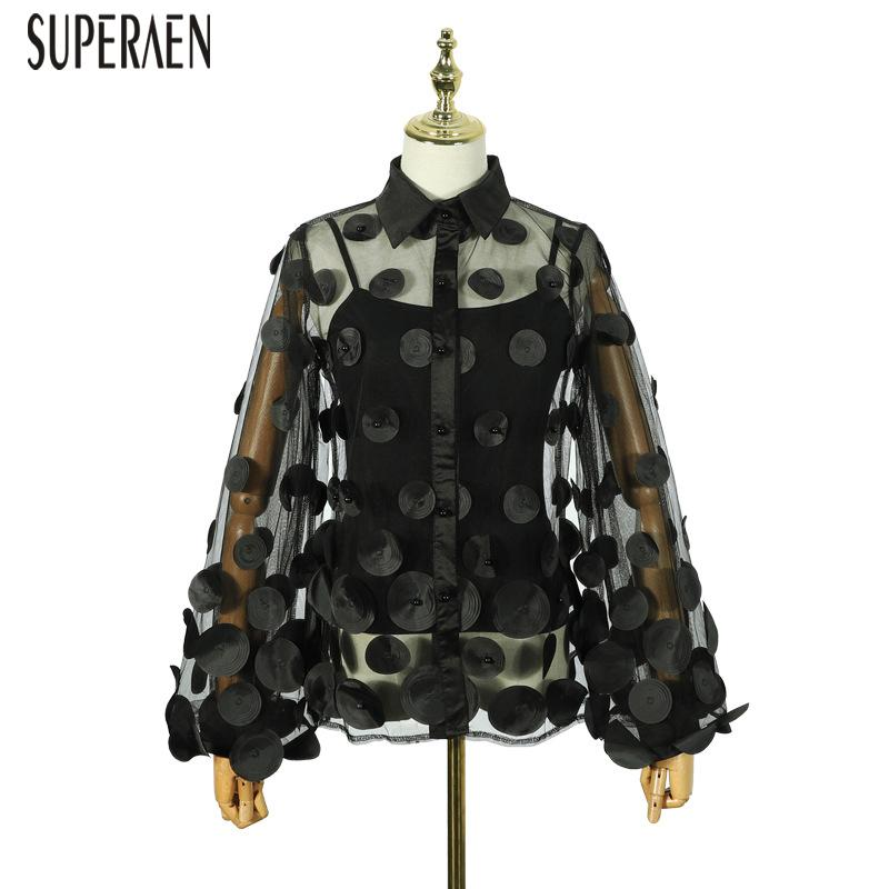 wholesale Europe Women Shirts Fashion Wild Casual Long Sleeve Ladies Blouses and Tops Spring and Summer 2020 New Sunscreen