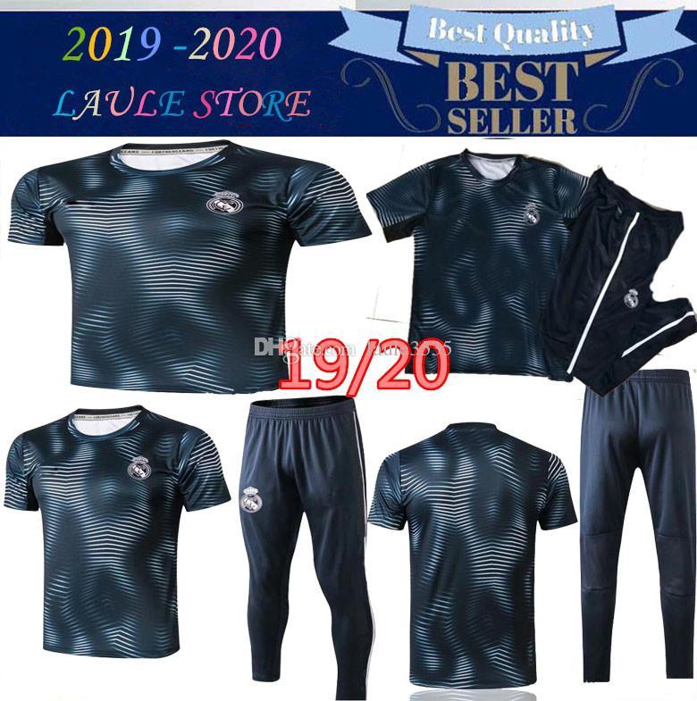 2019 Real Madrid kit de treino de futebol de manga curta 18/19 real madrid treino RONALDO MODRIC BALE MARCELO ISCO kit de treino de futebol