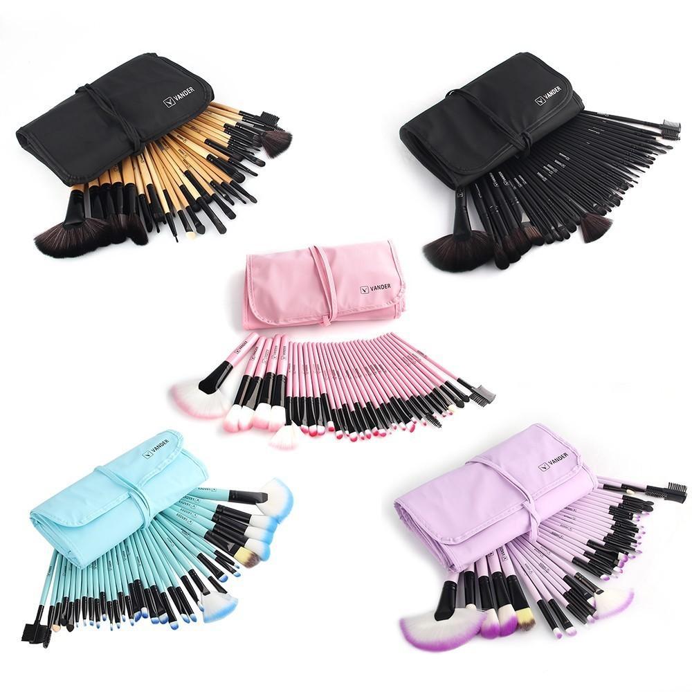 32 stücke Make-Up Pinsel Set Professionelle Kosmetik Pinsel Augenbraue Foundation Schatten Kabuki Bilden Werkzeuge Kits + Beutel