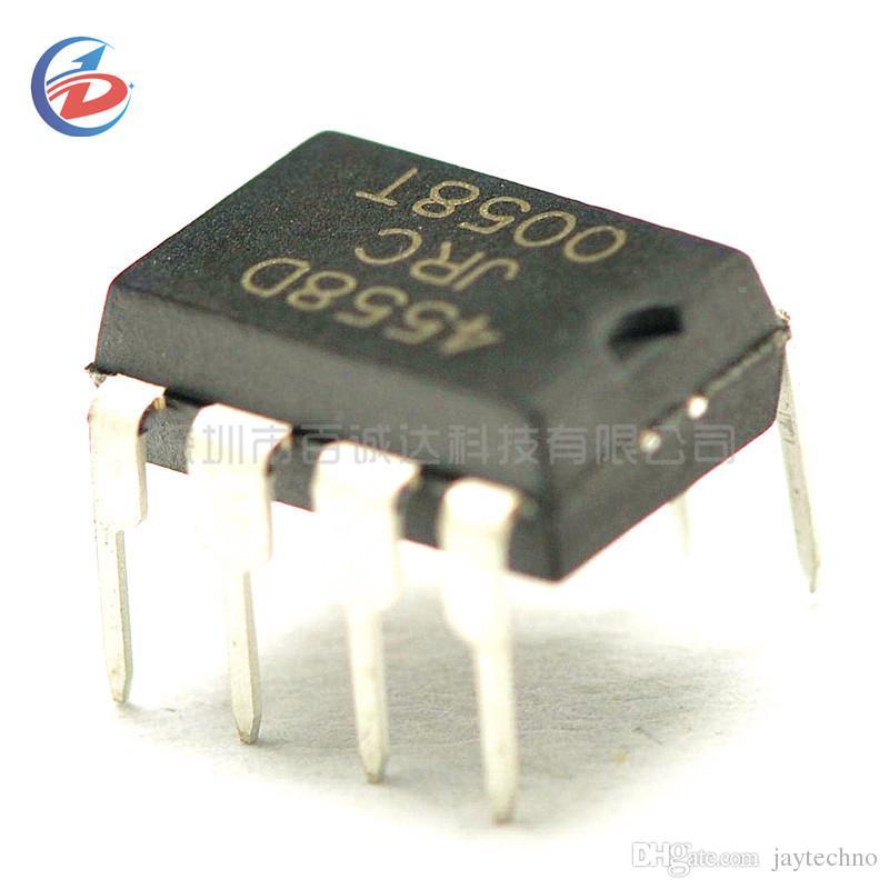 100pcs NJM4558D DIP8 NJM4558 DIP JRC4558D JRC4558 çift işlevsel bir amplifikatör Yeni orijinal