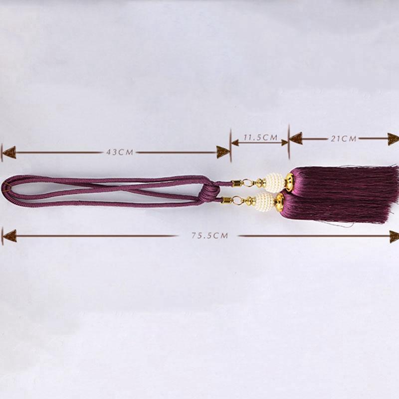 Perde Aksesuarları Fırça Bandaj İnci Püsküller kolye Takı Dekorasyon Aksesuarları 2 adet