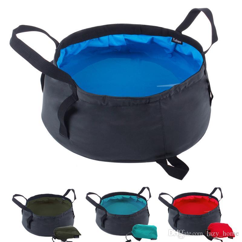 Portable Folding Washbasin Outdoor Collapsible Bucket Wash Basin Water Bag Pot for Camping Hiking Bath Bags
