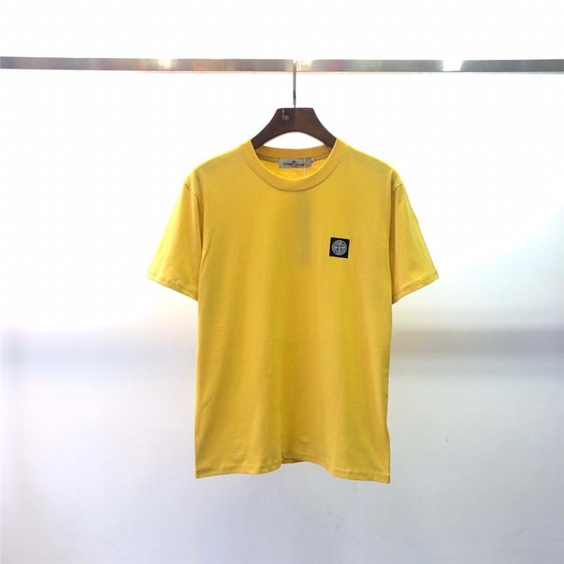 2020 populares logotipo de la ropa de los hombres nueva camiseta impresa alrededor del cuello de la blusa de la juventud artística camiseta W12