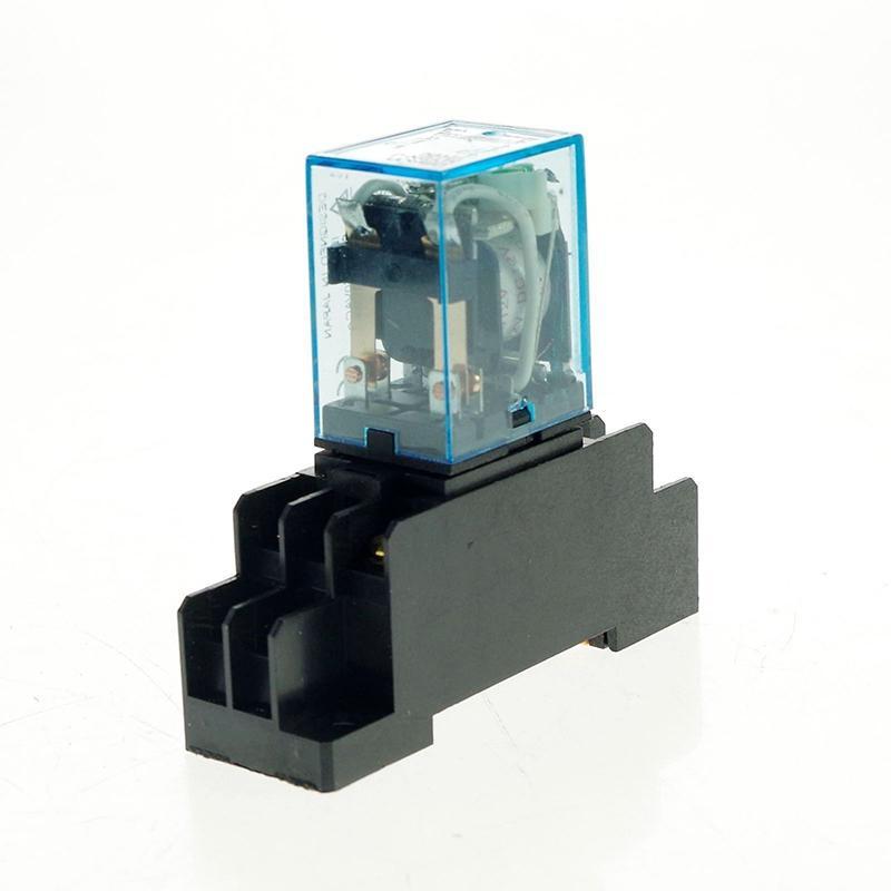 1 개 조각 릴레이 8 핀 소켓은 5A DC12V DC24V AC110V AC240V 전원 릴레이 HH52P-L 전동 공구 액세서리 기지