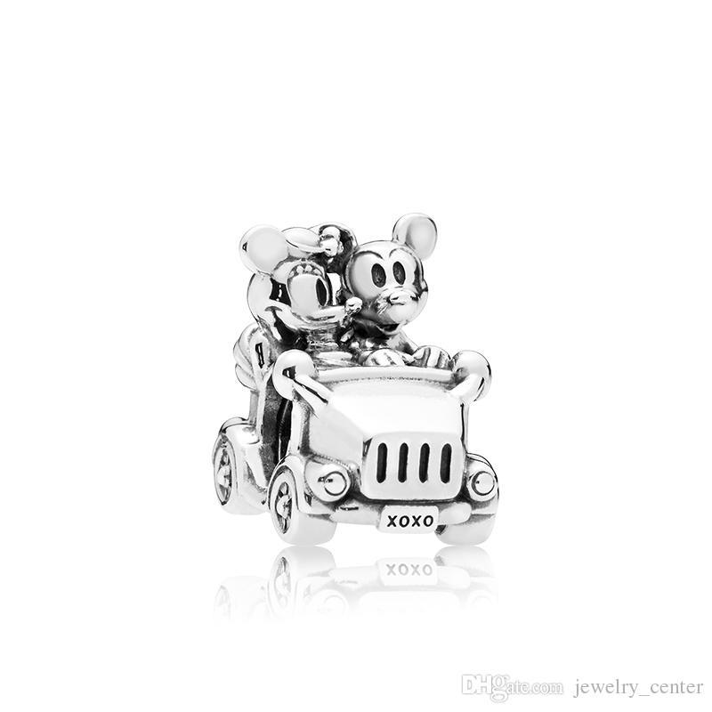 أصيلة 925 فضة سحر المربع الأصلي ل باندورا خمر سيارة الخرز سحر مجوهرات سوار diy صنع