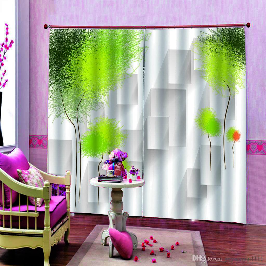 Décoration intérieure Rideaux Rideaux occultants style européen 3D Rideau Salon moderne de la mode homme de remise en forme Rideaux