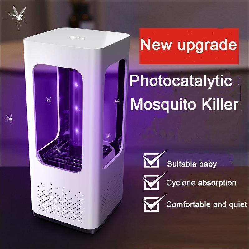 USB ricaricabile a LED della zanzara lampada No radiazioni UV Photocatalyst Mosquito Zapper Luce per letto Giardino Camping
