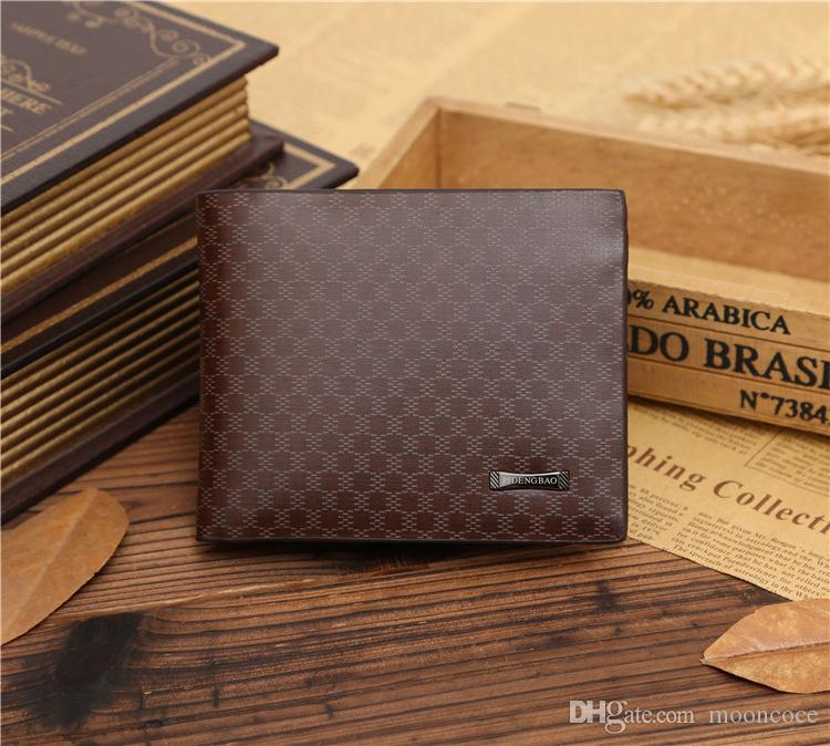 Mens Wallet Männer Geldbörsen der neuen Ankunfts-Mann-echtes Leder-Männer-Portemonnaie beiläufige kurze Designer-Kartenhalter-Taschen-Mode-Geschäfts-Geldbeutel-Mappen