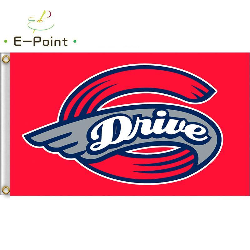 MiLB Greenville Sürücü Bayrak 3 * 5 ft (90cm * 150cm) Polyester bayrak Banner Amerikalı dekorasyon uçan ev bahçe bayrak