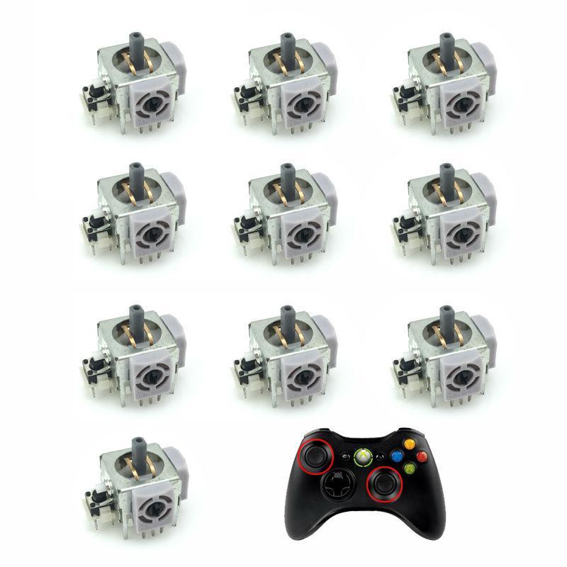 100 PCS reemplazo reparación Módulo Joystick 3D de piezas Stick analógico potenciómetros para Microsoft Xbox 360 controlador de videojuegos