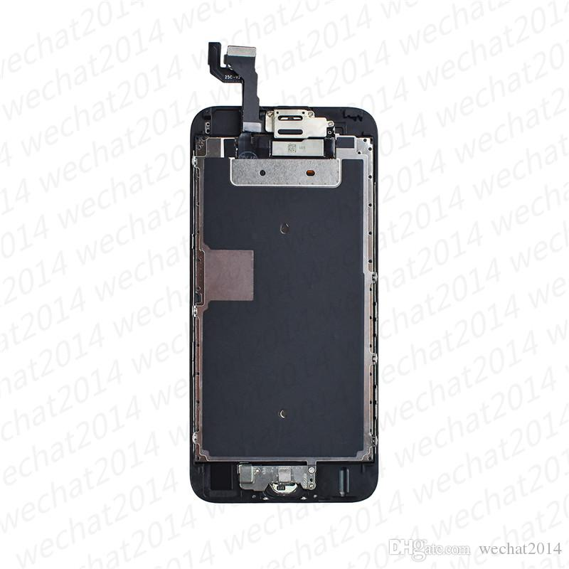 50PCS Tested LCD Display Touch Screen Digitizer Assembly Replacement Parts With Front Camera Small Parts for iPhone 6 6s Plus free DHL