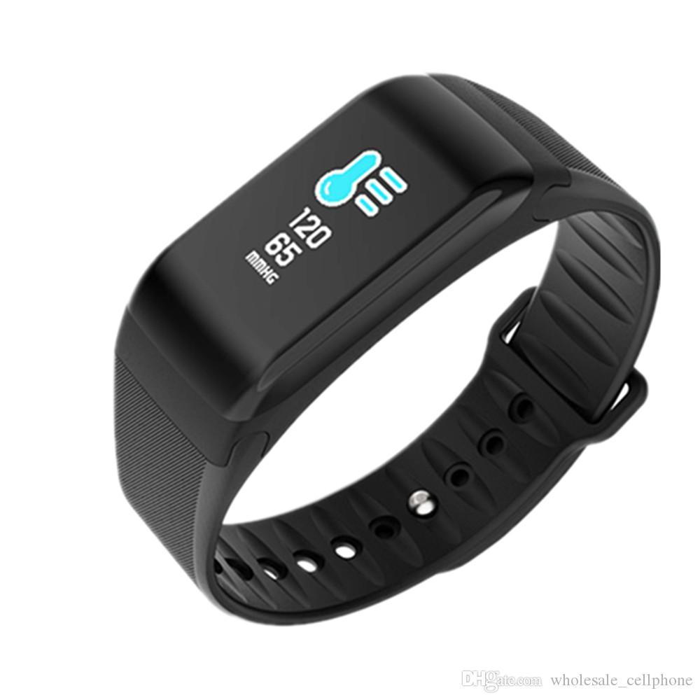 F1S الذكية سوار اللون الأكسجين شاشة الدم مراقب الذكية الساعات رصد معدل ضربات القلب ساعة ذكية للياقة البدنية المقتفي ووتش للحصول على الروبوت فون