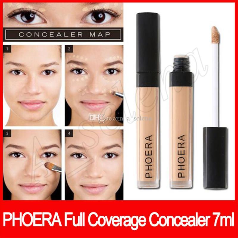 trucco viso Phoera Full Coverage Concealer 10 colori di lunga durata radiante cremoso correttore 7ml opaco morbido fondamento liquido trasporto libero