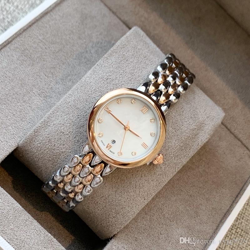 최고 품질의 뜨거운 비즈니스 여성 우아한 시계 Eville 스테인레스 스틸 쿼츠 시계 패션 소형 손목 시계 레이디 캐주얼 드레스 손목 시계