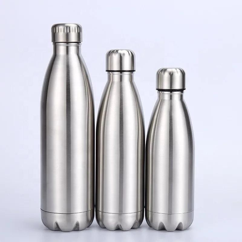 500ml Stainless Steel Wall Vacuum Insulated Bottle Water Flask Sport Outdoor