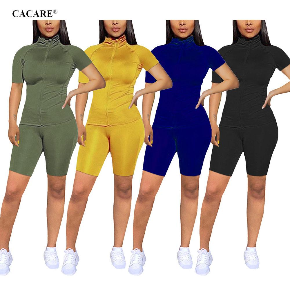 2020 Jogger Set Women Sports 2 Piece Pants Sets Tracksuit Biker Shorts Two Piece Suit Outfit Casual F0332 Exercise Top and Pants Summer