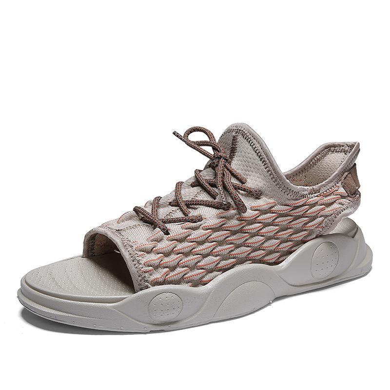 39-44 Uomo open toe sandalo pigolio punte del sandalo allacciano modo delle calzature respiro sandalo avvio z10