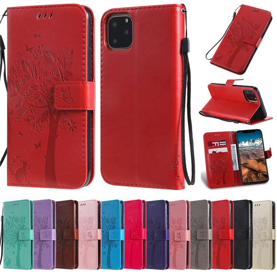 Многофункциональный кожаный бумажник телефон Чехлы для iPhone 11 Pro XS Max XR Samsung S20 Примечание 10 LG K40S K30 Мото HUAWEI P Смарт