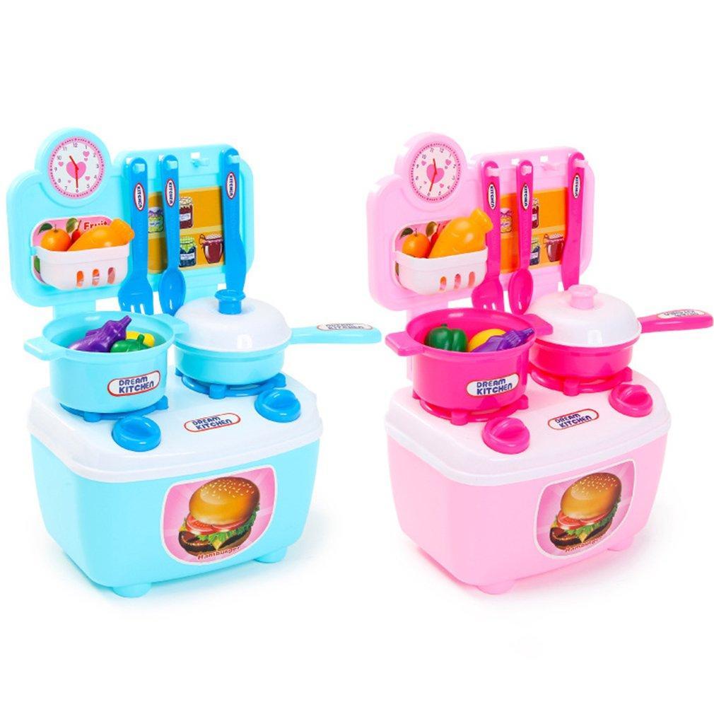 Simulación de los niños Cocina Niños Juegos de imaginación Juguetes Utensilios de cocina Juegos de juguetes Juguetes educativos tempranos Set de vajilla de cocina