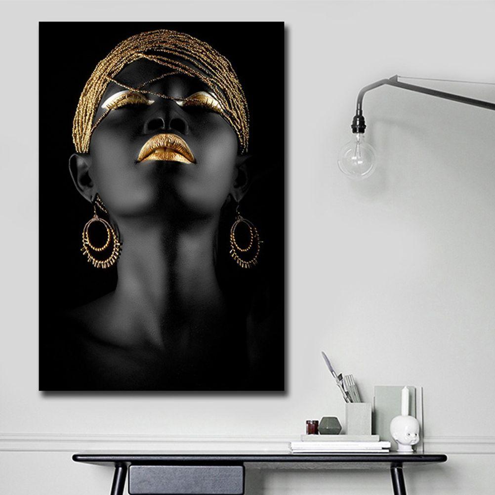 아프리카 흑인 여성 캔버스 인쇄 벽 예술 추상 벽 및 홈 장식 거실 Decoraction에 대한 캔버스 회화 회화