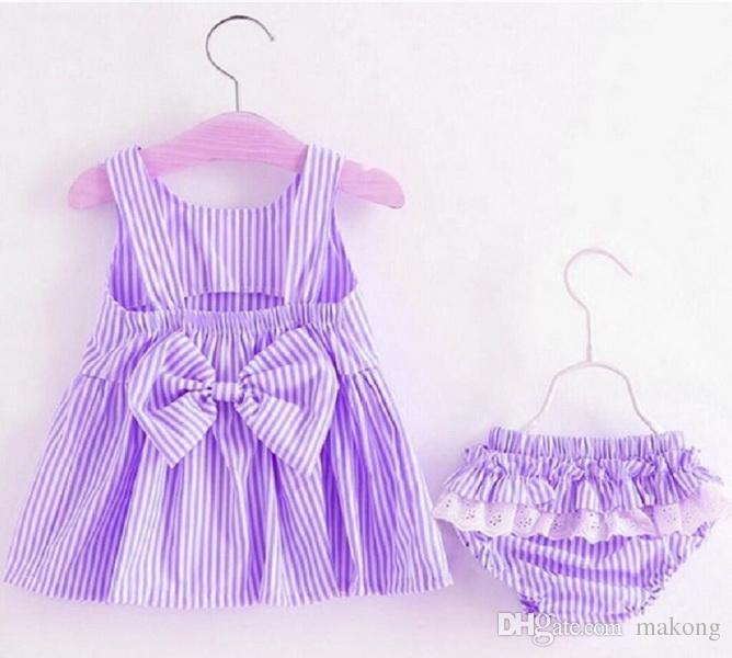 Vestido de verano bebé Niñas sin mangas con volantes Corazones Arco Diadema Pantalones 9 12 24 50