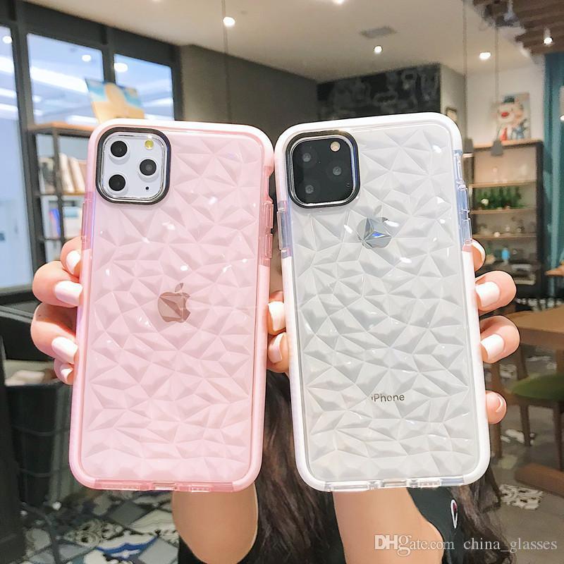 1шт Новой моды ромб телефон чехол для Iphone 6S 7 8 X Xr Case Xs 11 Pro Max мобильного телефона Защита падения