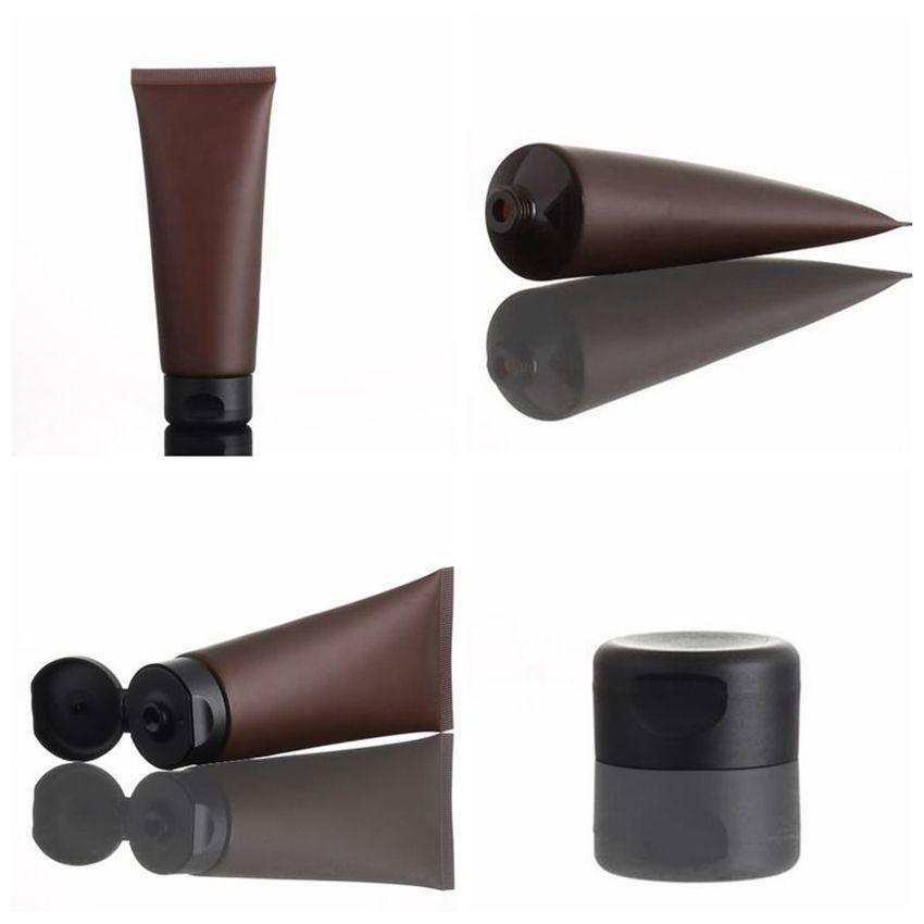 Kaplar Losyon Yüz Temizleyici Şampuan Krem şişesi KKA7929 Packaging Mat Kozmetik Numune Tüp Makyaj Squeeze boşaltmak 100ml