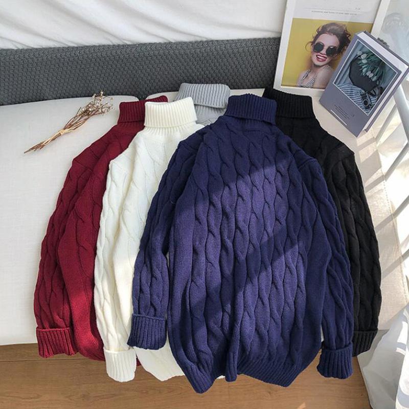 Noel Süveter erkekler Giyim Kış erkek kazak Yeni Bahar Erkekler'S Turtleneck Katı Renk Casual Slim Fit Marka
