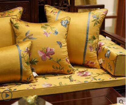 Простой новый китайский наволочка диван вышитая наволочка Жаккардовая наволочка наволочка