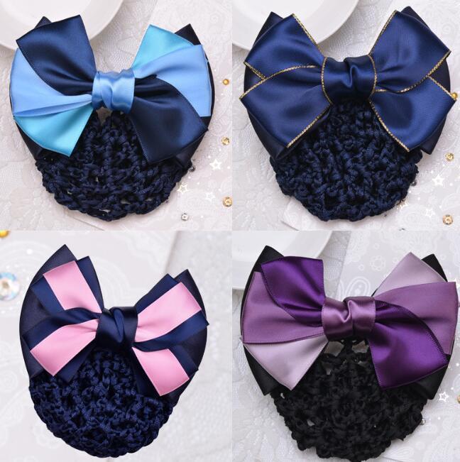 UK Lady Girl Flower Colorful Bowknot Ribbon Head Clip Hair Access Headband Bow