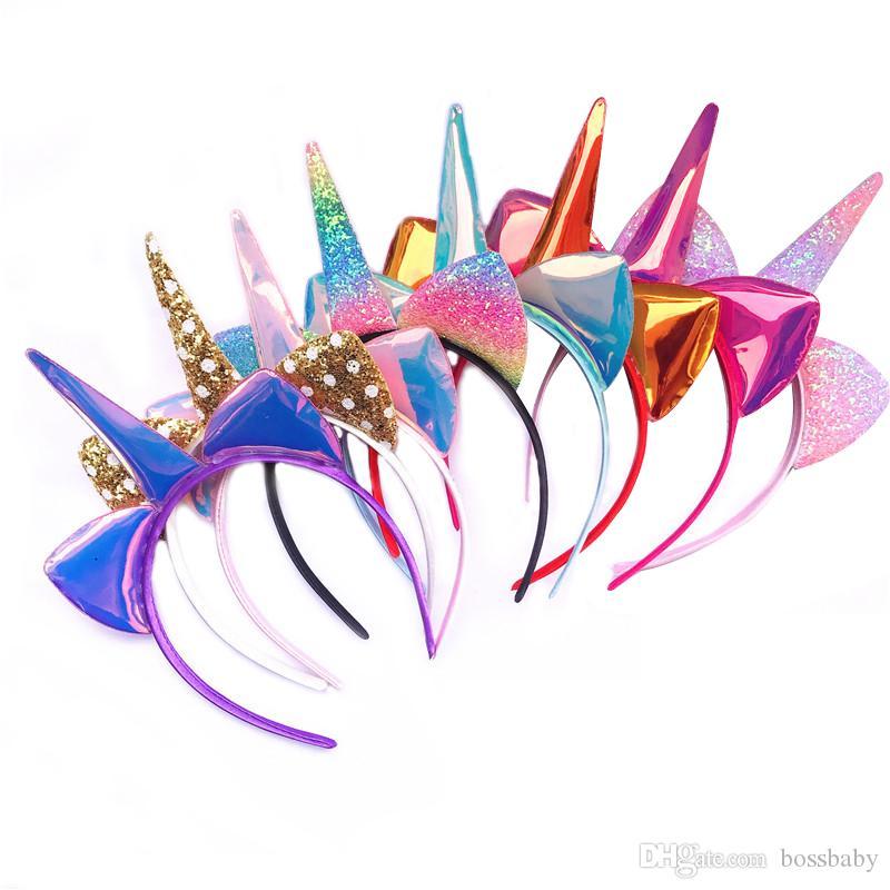 Baby Girl Unicorn Headband Cartoon Cat Ears Hair Accessories For Girls Enfant Headwear Kids Casual Child Hair Sticks 43