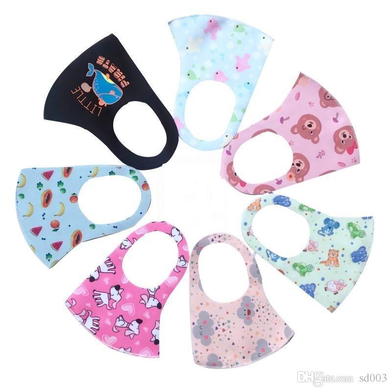 Waschbare Protect Gesicht Mund-Maske Mascherine Tiere Drucke Folding Anti-Tröpfchen spritzen Sun Masken Kind Respirator Auf Lager 1 5NQ E19