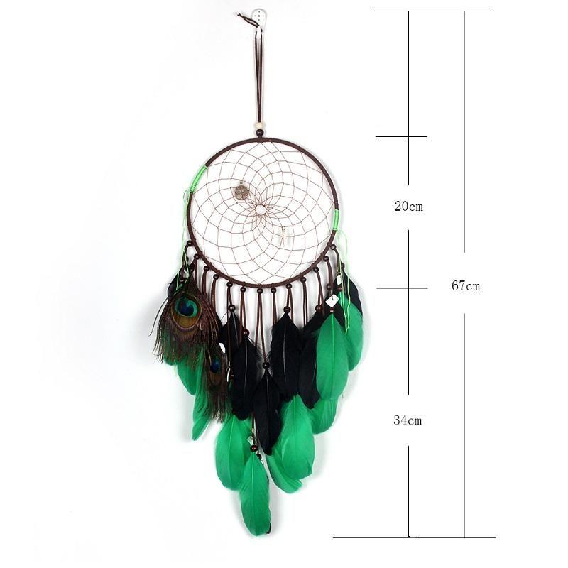 Traumfänger Dreamcatcher mit Lebensbaum Schlüsselanhänger Federn Windspiel neu