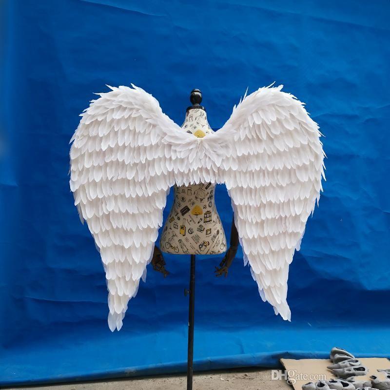 كبيرة الحجم أجنحة الملاك ريشة مخصص الكبار لعرض أزياء اطلاق النار الدعائم تأثيري لعبة زي إمدادات الزفاف دش