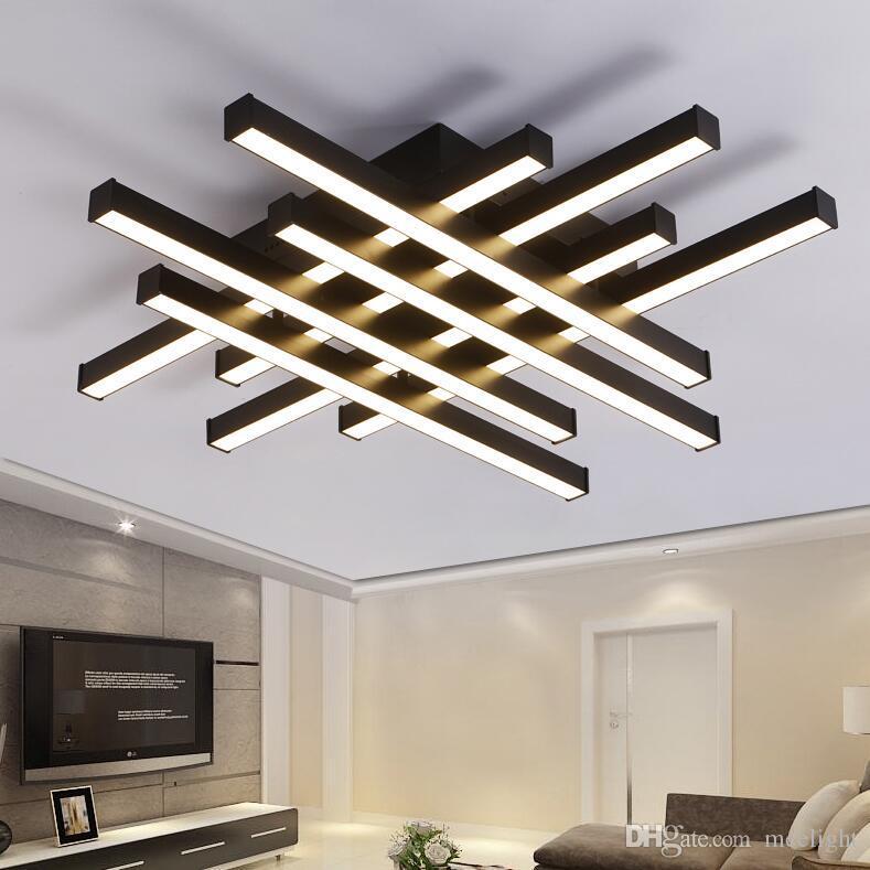 Modern LED Ceiling Light AC 90-260V white black body creative LED Ceiling Lamp Chandeliers lighting for bedroom living room