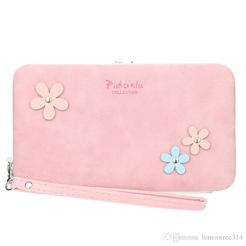 Women Sweet Flowers Wallet Clutch Casual Cards Holder Girs Lady Wallets Floral Purse High Capacity Wallet Pouch Phone Bag Gifts